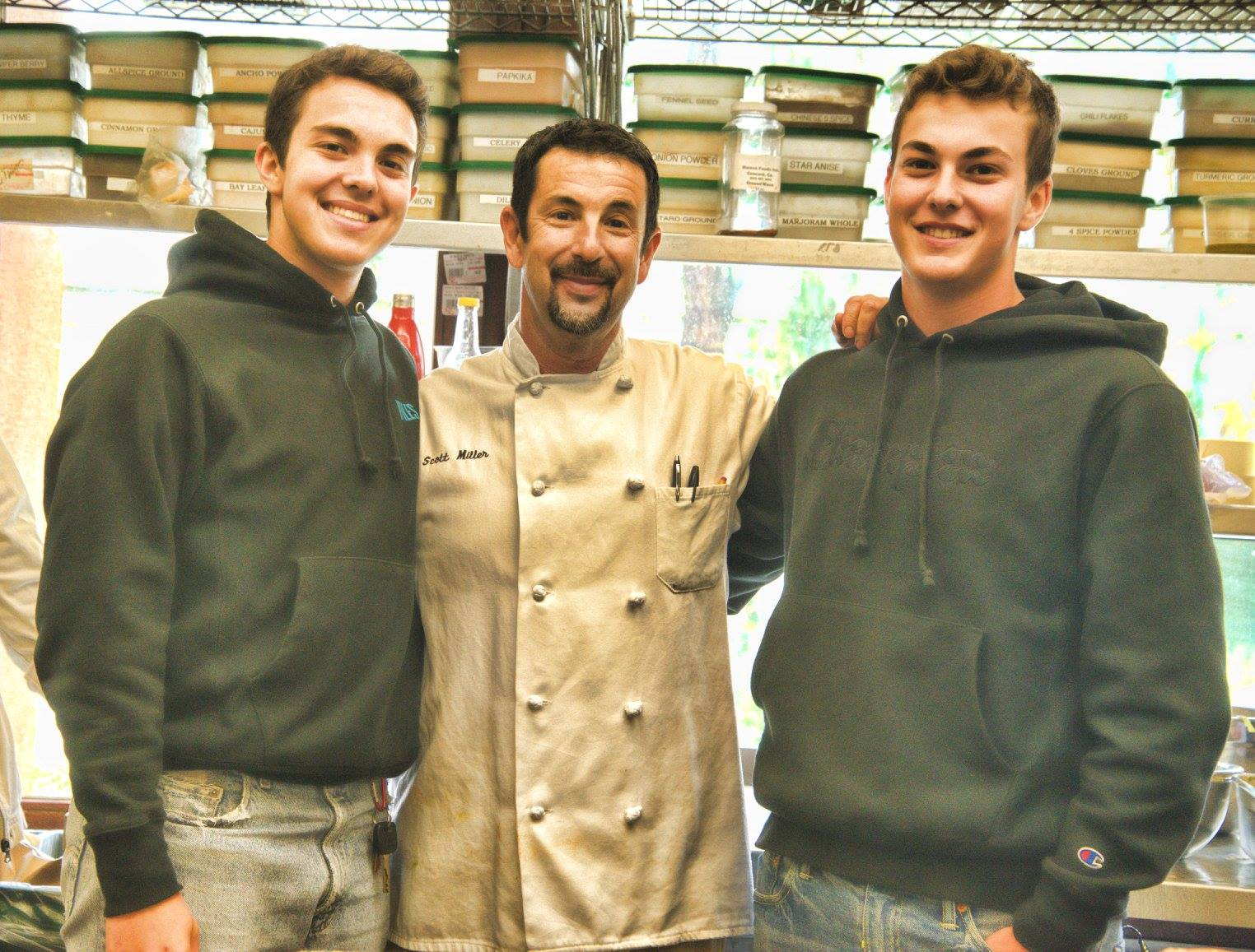 mhf chef scott miller with sons max and josh