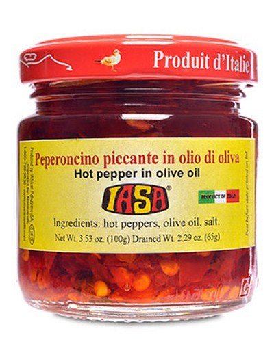 Iasa hot peppers in evoo